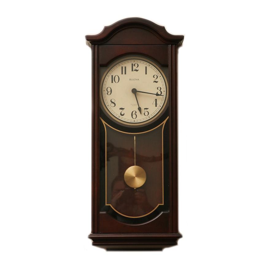 Bulova Westminster Chime Pendulum Wall Clock, Mid to Late 20th Century