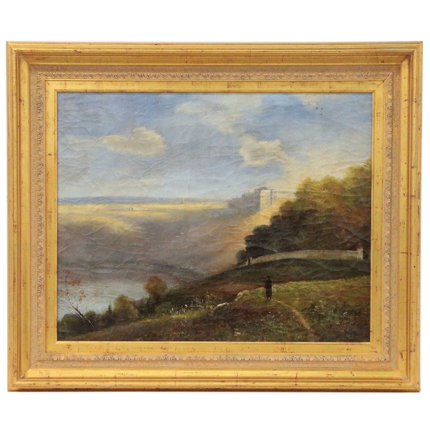 Fjord Landscape with Figure, Early 20th Century