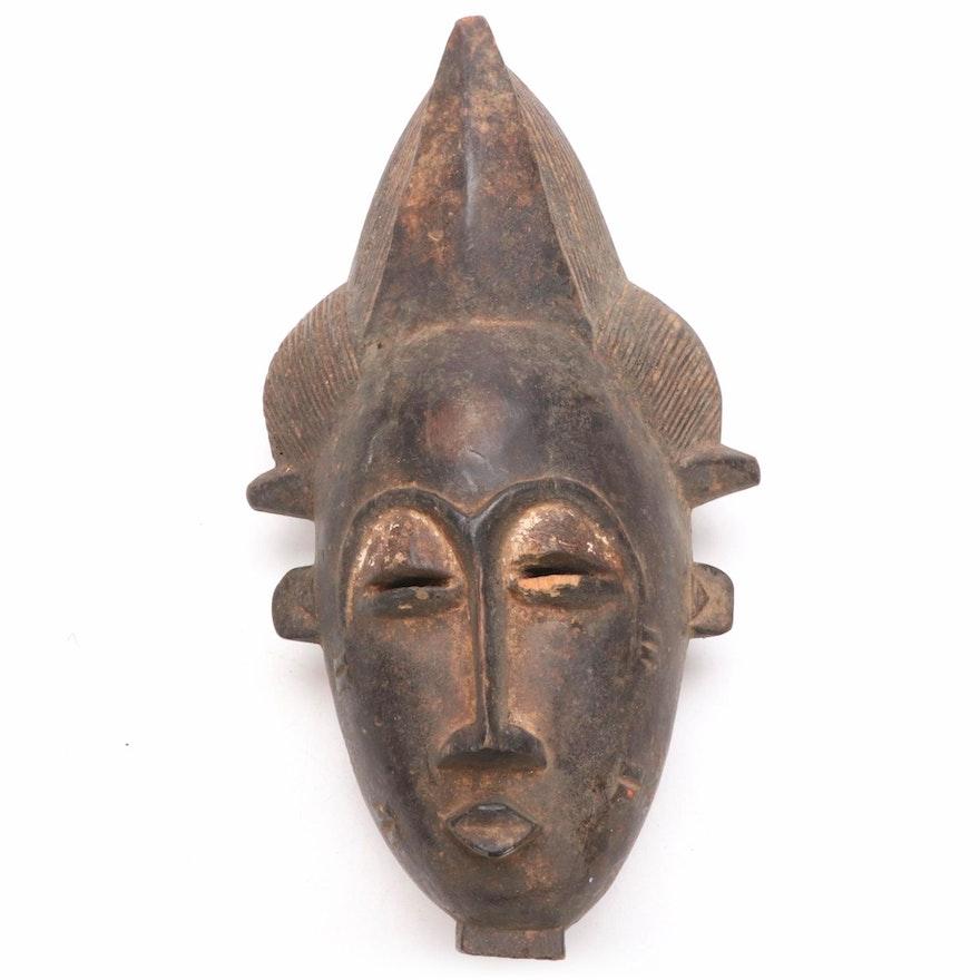 Baule Style Hand-Carved Wood Mask, Côte d'Ivoire