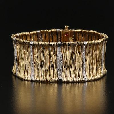 "Roberto Coin ""Elephantino"" 18K Diamond Bracelet"