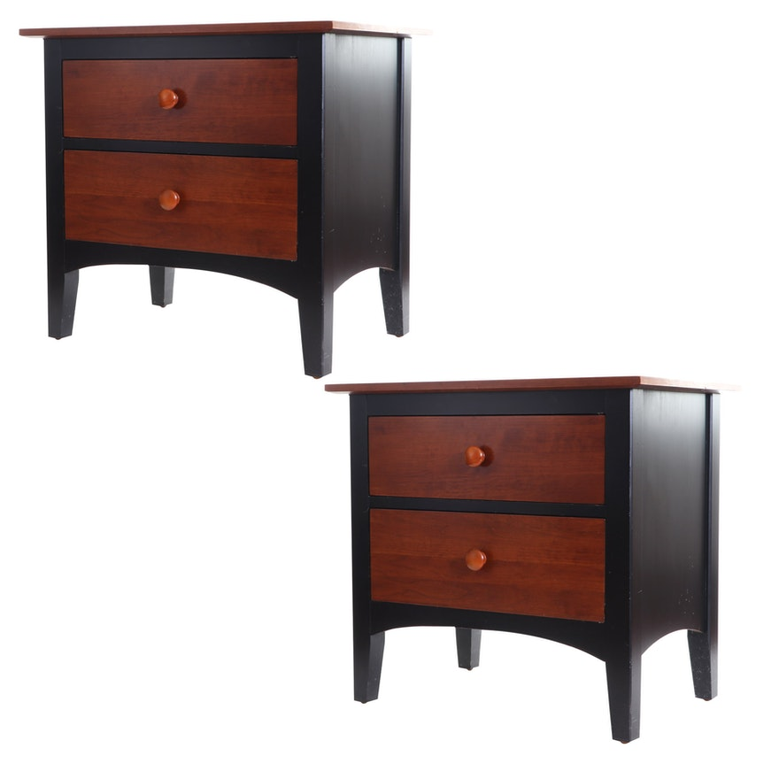 """Ethan Allen """"American Impressions"""" Painted Wood Nightstands"""