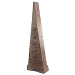 Carved Wooden Pyramid-Shaped Chest of Drawers