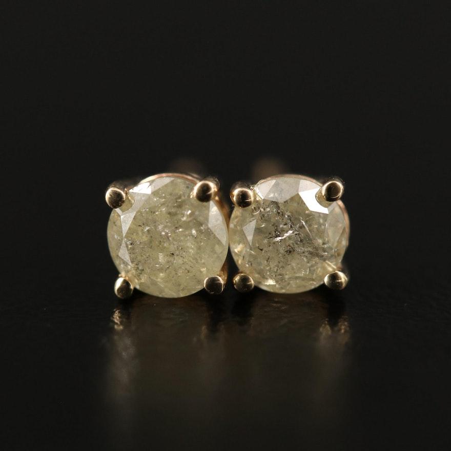 14K 0.76 CTW Diamond Stud Earrings
