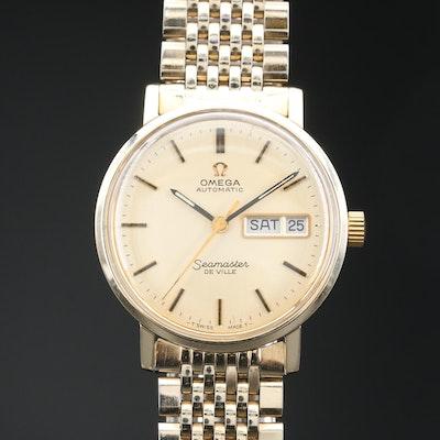 1974 Omega Seamaster DeVille 14K Gold Automatic Wristwatch