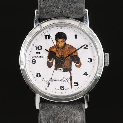 "Muhammed Ali ""The Greatest"" Stem Wind Wristwatch"