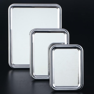 "Georg Jensen Aluminum ""Tableau"" Tabletop Mirrors"