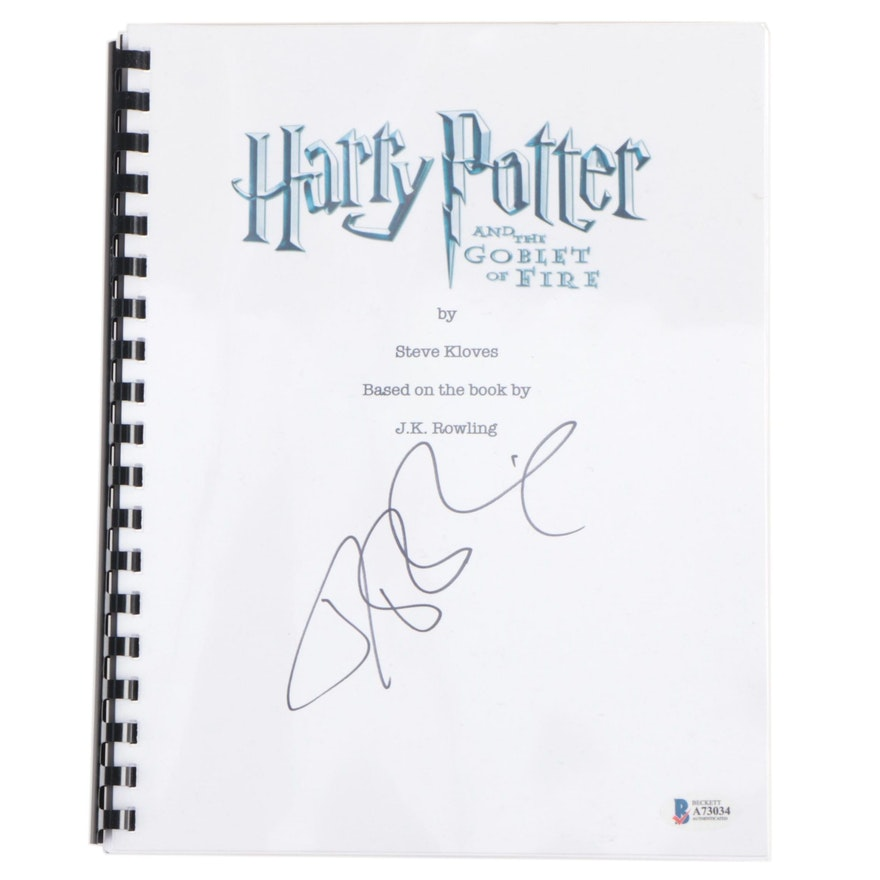 """J. K. Rowling Signed """"Harry Potter and the Goblet of Fire"""" Script with COA"""