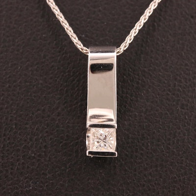 18K Diamond Pendant Necklace