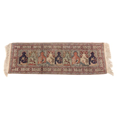 1'11 x 6'1 Hand-Knotted Pictorial Runner