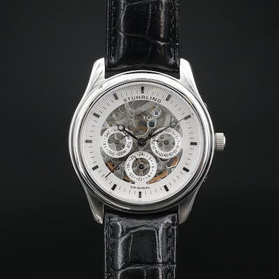 Stürling Stainless Steel Automatic Wristwatch with Day and Date