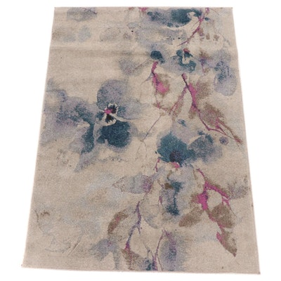 """5'3 x 7'6 Machine Made Feizy Surtsey Collection """"Frosted Blossom"""" Area Rug"""
