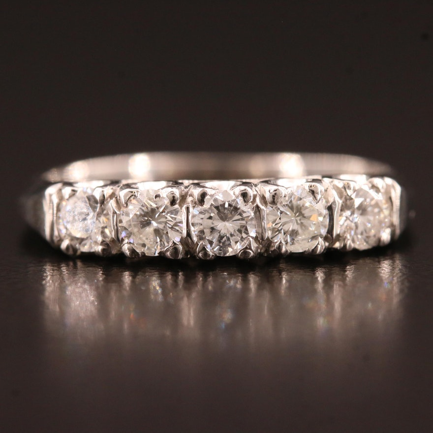 Platinum Diamond Five Stone Ring