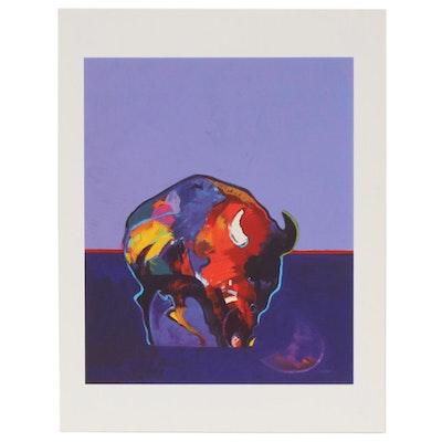 "John Nieto Serigraph ""Buffalo Medicine"", 1996"