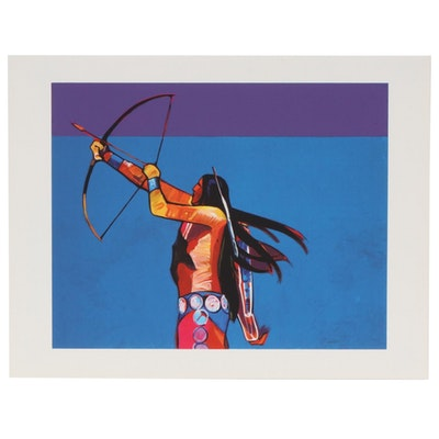 "John Nieto Serigraph ""Archer Takes Aim"", 1996"