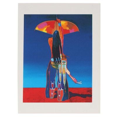 "John Nieto Serigraph ""Cosmic Archer"", 1996"