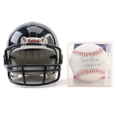 Ernie Banks (HOF) Signed Rawlings Major League Baseball, PSA/DNA COA