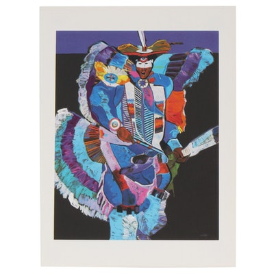 "John Nieto Serigraph ""Fancy Dancer"", 1996"