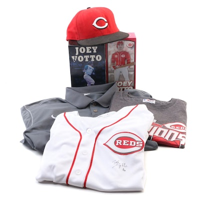 Joey Votto #19 Reds Cap, Billy Hamilton Signed Jersey, and Fan Apparel