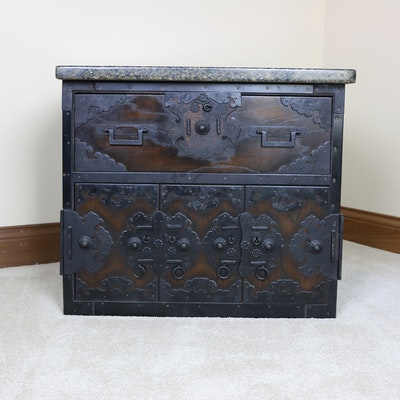 Chinese Puzzle Chest with Granite Top