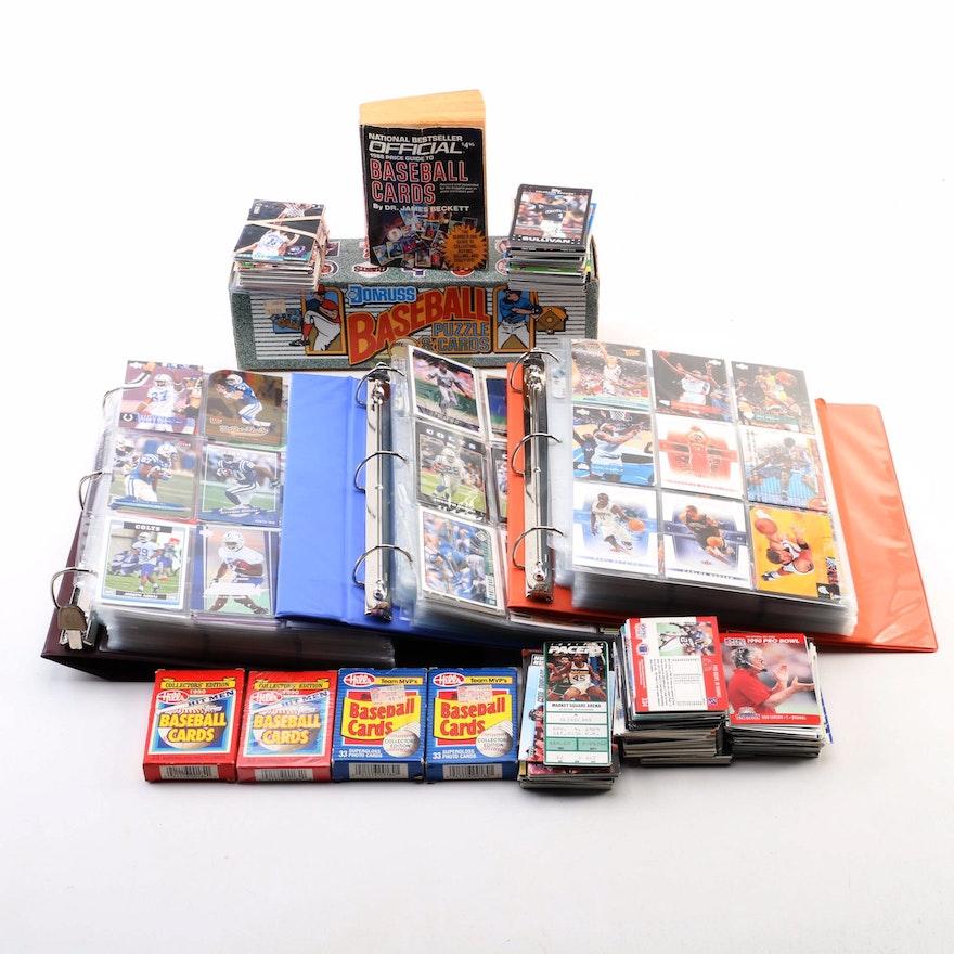 1980s 1990s Baseball Basketball And Football Trading Cards Ebth
