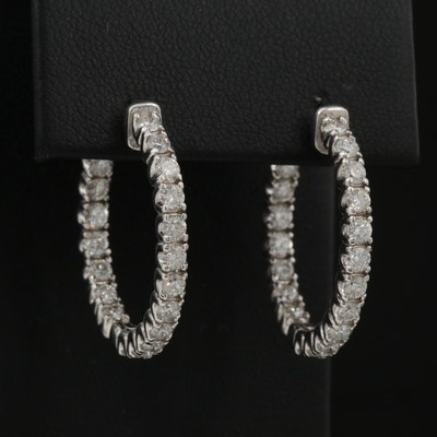 14K 1.71 CTW Diamond Inside-Out Hoop Earrings