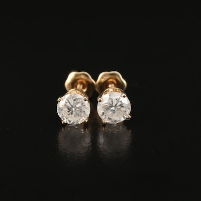 14K 1.15 CTW Diamond Stud Earrings