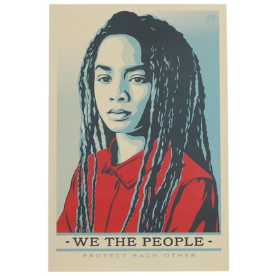"Offset Print Poster after Shepard Fairey ""We the People: Protect Each Other"""
