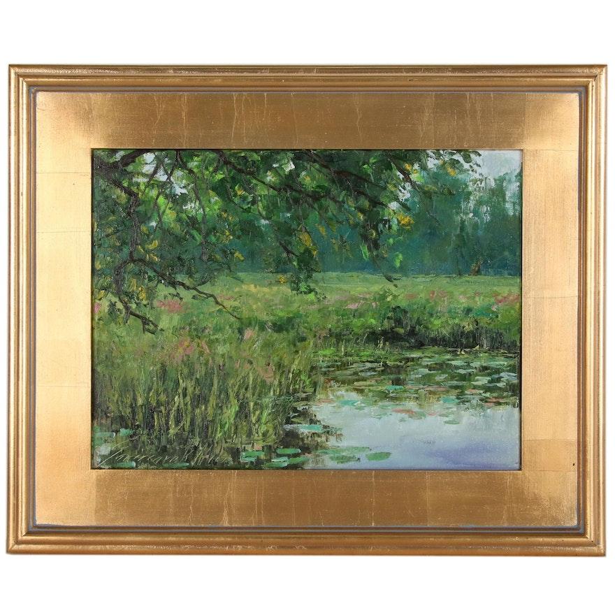 "Garncarek Aleksander Landscape Oil Painting ""Dad Wody"", 2020"