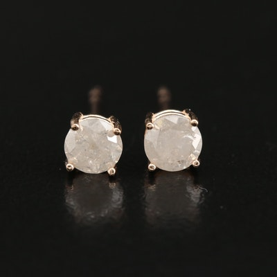 14K Rose Gold 0.75 CTW Diamond Stud Earrings