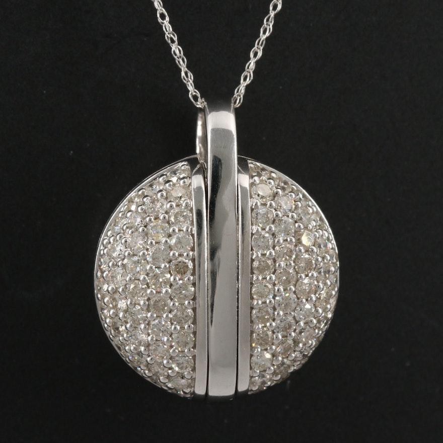 14K 1.70 CTW Diamond Pendant Necklace