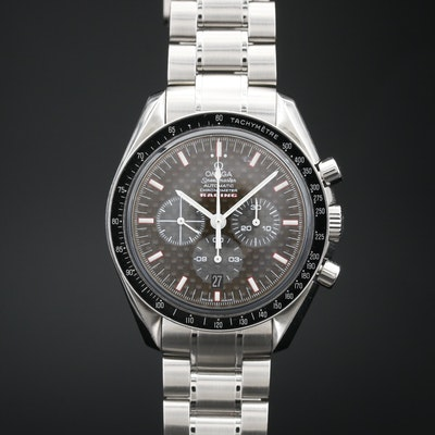 Omega Speedmaster Racing Carbon Chronograph Stainless Steel Automatic Wristwatch