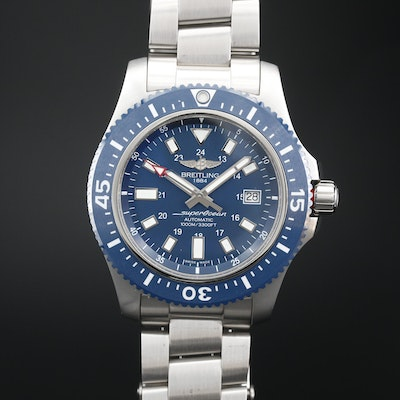 Breitling SuperOcean 44 Special Stainless Steel and Ceramic Automatic Wristwatch