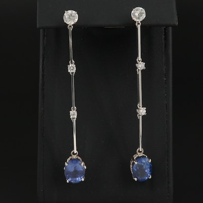 13.33 CTW Sapphire and 2.11 CTW Diamond Earrings with GIA and AGL Reports