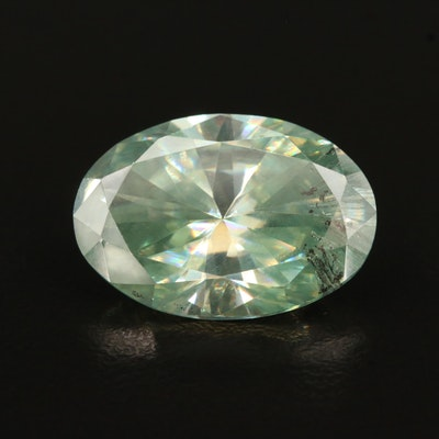 Loose Lab Grown 13.47 CT Oval Faceted Moissanite
