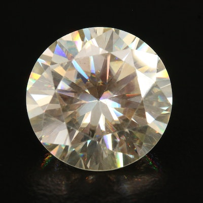 Loose Lab Grown 10.82 CT Round Faceted Moissanite