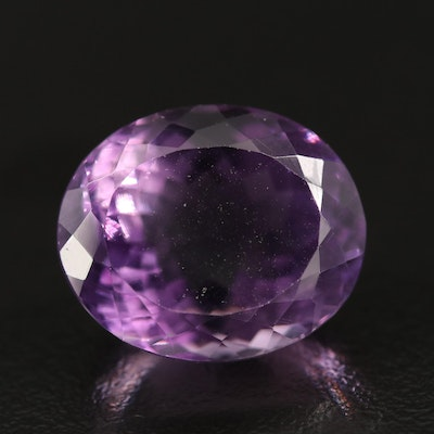 Loose 18.69 CT Oval Faceted Amethyst