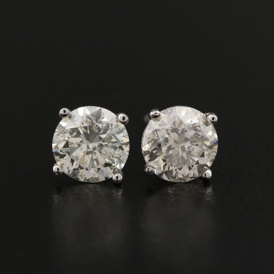 14K 1.65 CTW Diamond Stud Earrings