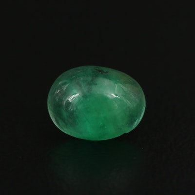 Loose 1.93 CT Oval Cabochon Emerald