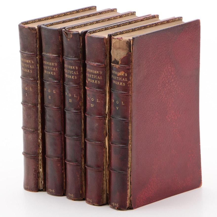 """""""The Poetical Works of Edmund Spenser"""" Aldine Edition Complete Set, 1905"""