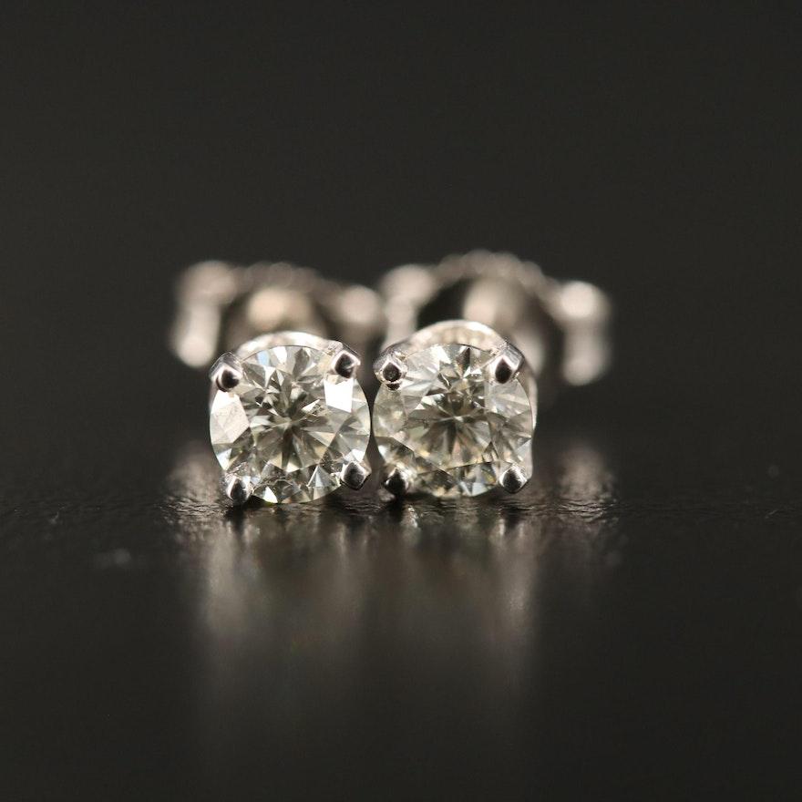 14K 0.68 CTW Diamond Stud Earrings