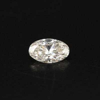 Loose 0.80 CT Oval Brilliant Cut Diamond with GIA Report