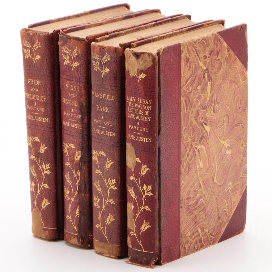 """The Novels and Letters of Jane Austen"" Stoneleigh Edition Partial Set, 1906"