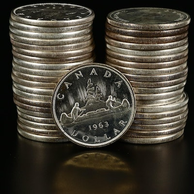 Uncirculated Canadian Silver Dollars, 1963-1967
