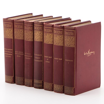 Partial Set Illustrated Cabinet Edition of William Makepeace Thackery's Works