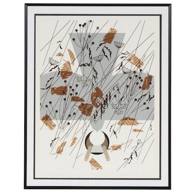 """Charley Harper Serigraph """"Hare's Breadth"""", circa 1977"""