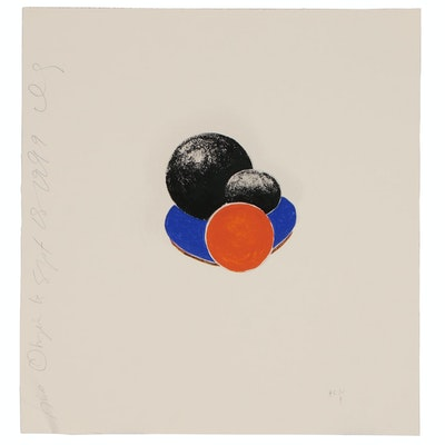 "Donald Sultan Serigraph ""Five Objects, Sept 18, 1999"", 1999"