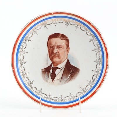 David Miller & Son Theodore Roosevelt Ironstone Plate, 20th C.