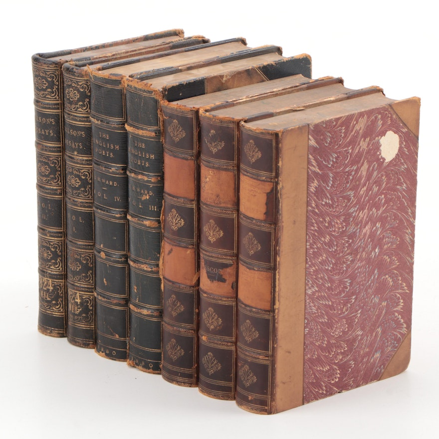 """Nonfiction and Poetry Books Including """"The English Poets"""" Vol. III–IV, 1880"""