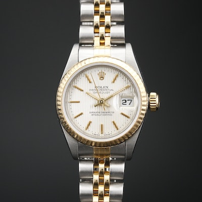 "1995 Rolex ""Datejust"" Stainless Steel and 18K Automatic Wristwatch"
