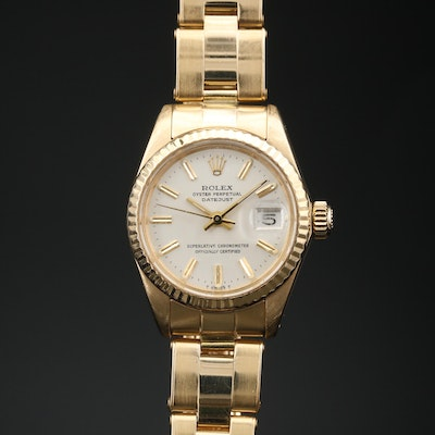 1981 Rolex Datejust 18K Gold Automatic Wristwatch